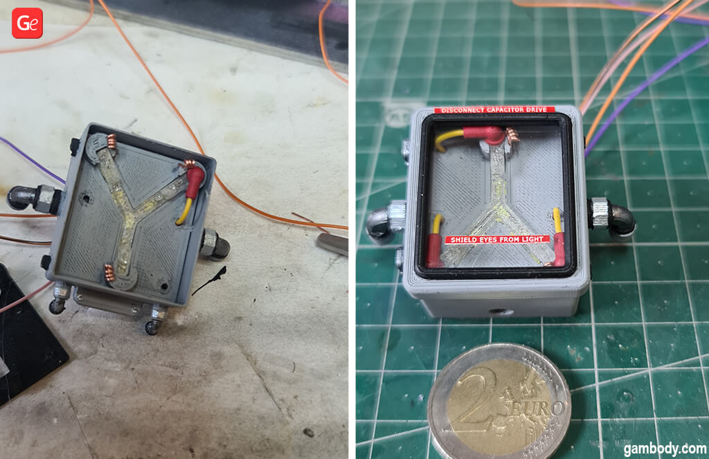 Flux capacitor with lights 3D print