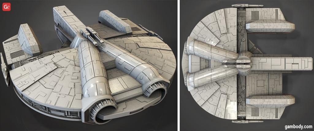 Ebon Hawk 3D printing ship model