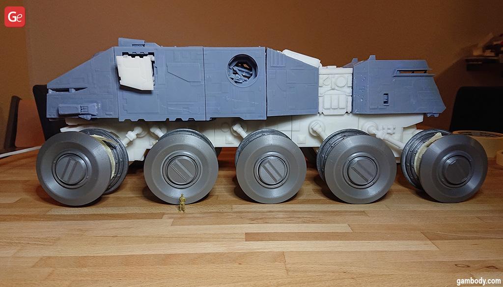 HAVw A6 Juggernaut Starr Wars tank model 3D print