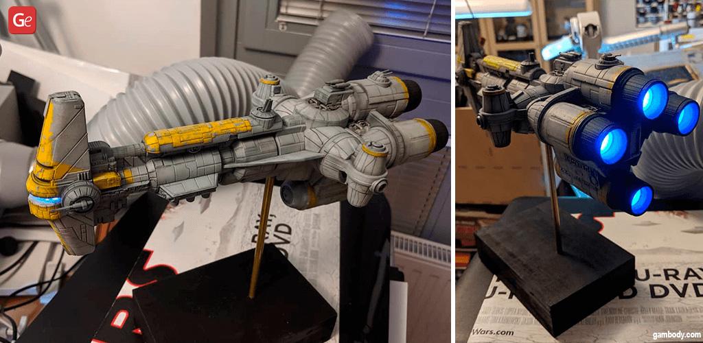 Hammerhead Corvette Star Wars ship designs to 3D print