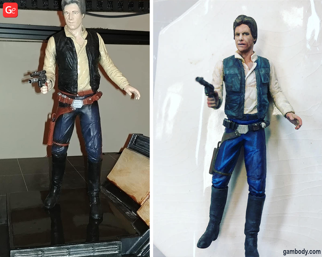 Han Solo figurine with 3D model STL
