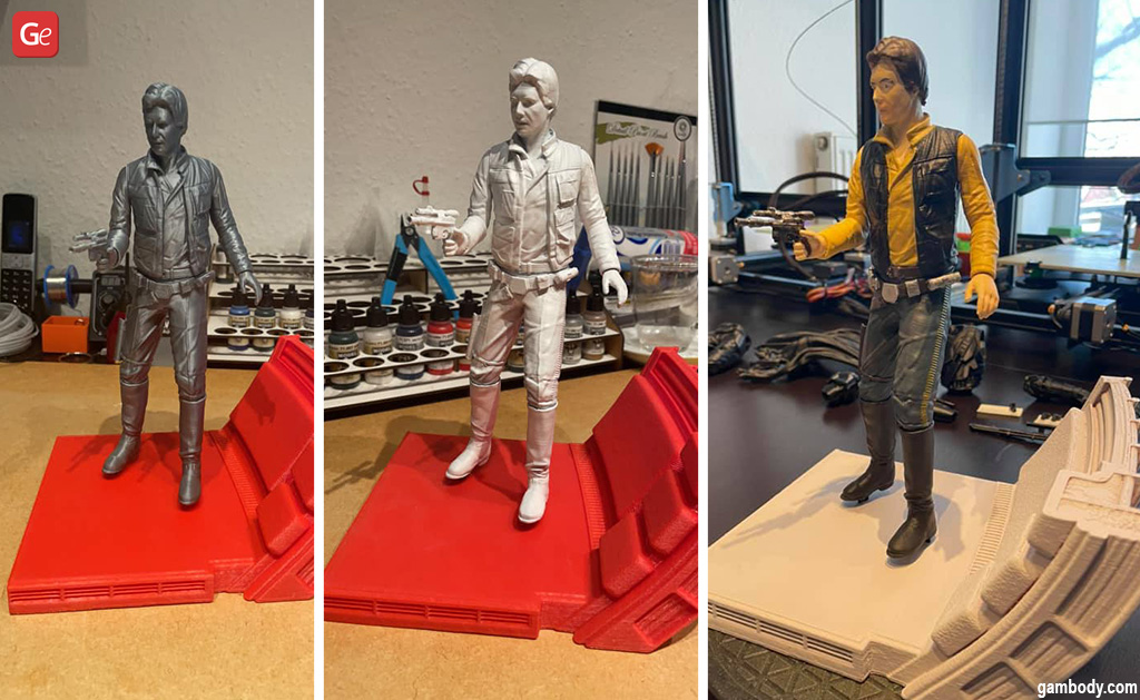 Han Solo figure 3D print Star Wars models