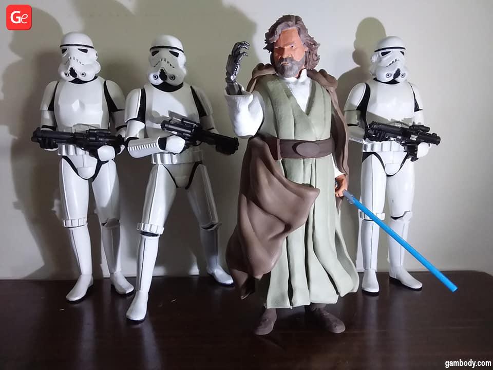 Luke Skywalker figurine 3D printed Star Wars models