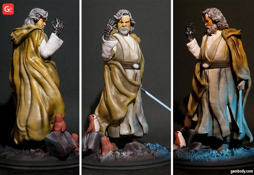 Luke Skywalker figure 3D model STL