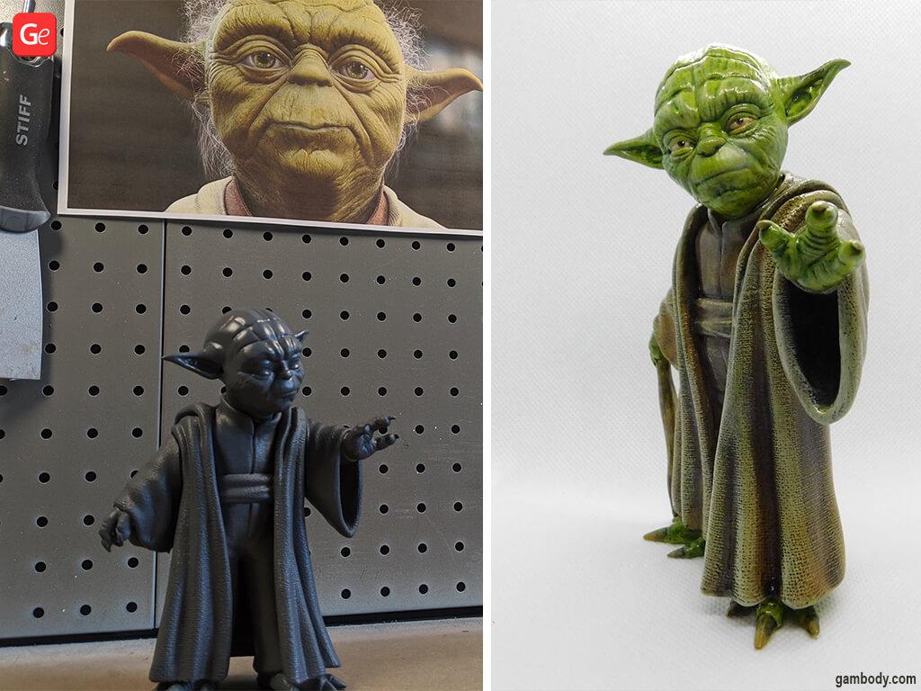 Master Yoda figure cool Star Wars prints