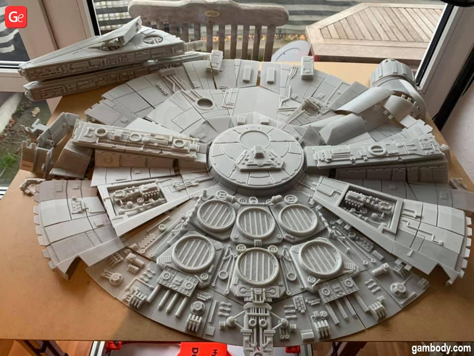 Millennium Falcon 3D printed parts