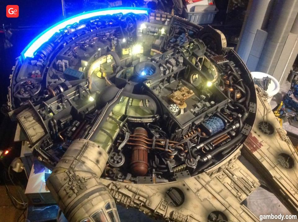 3D printed Millennium Falcon interior model kit