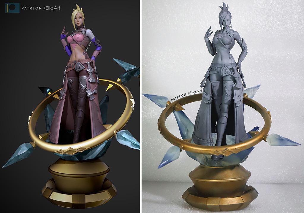 FFXIV Minfilia Warde 3D printed figure