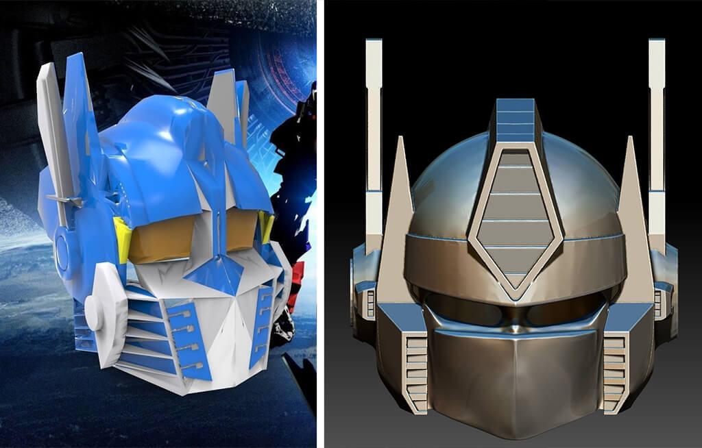 Transformers Optimus Prime helmet to 3D print