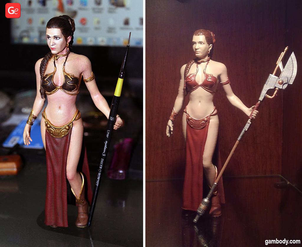 Princess Leia figurine 3D model Star Wars print