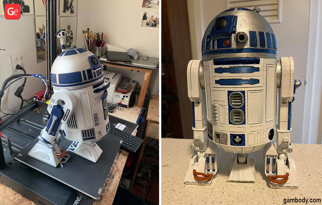 R2-D2 robot Star Wars droids pictures 3D print