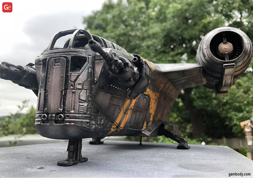 Razor Crest 3D printed Star Wars ships