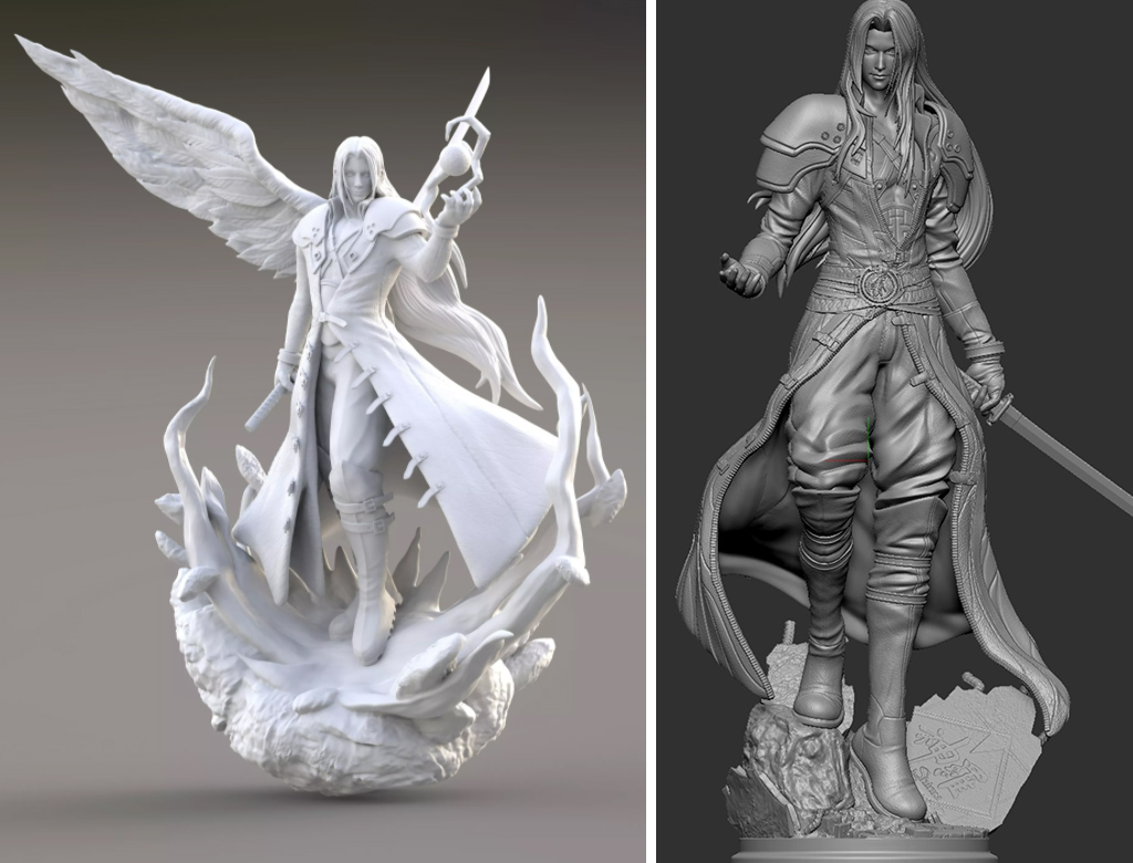 FF7 Remake Sephiroth figure for 3D printing