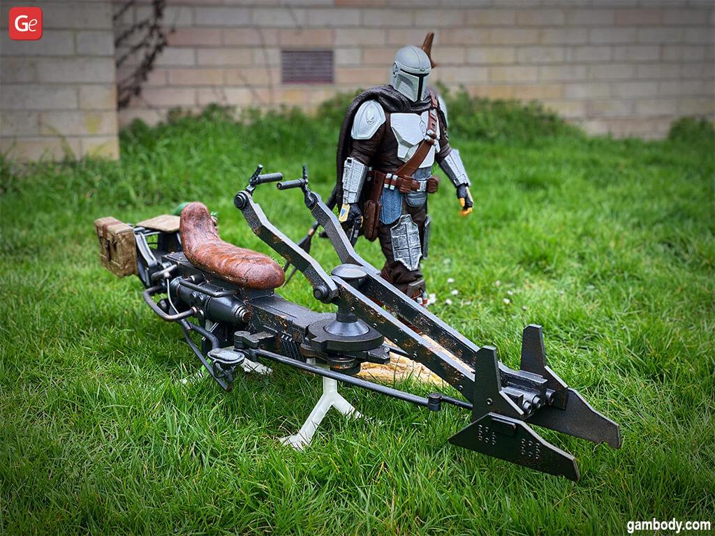 Speeder Bike model Star Wars Mandalorian 3D print