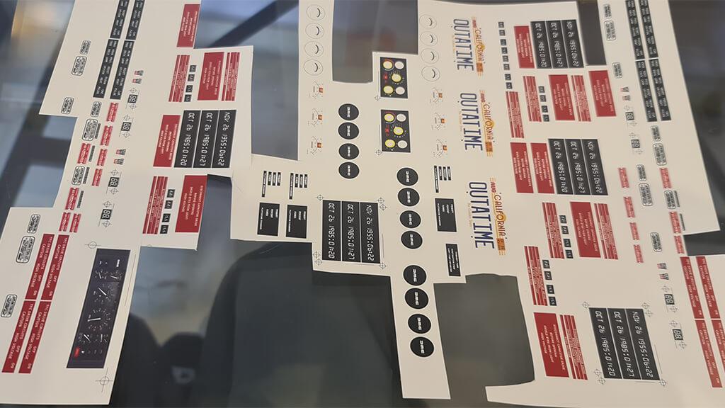 Stickers for DeLorean DMC-12 3D printed model