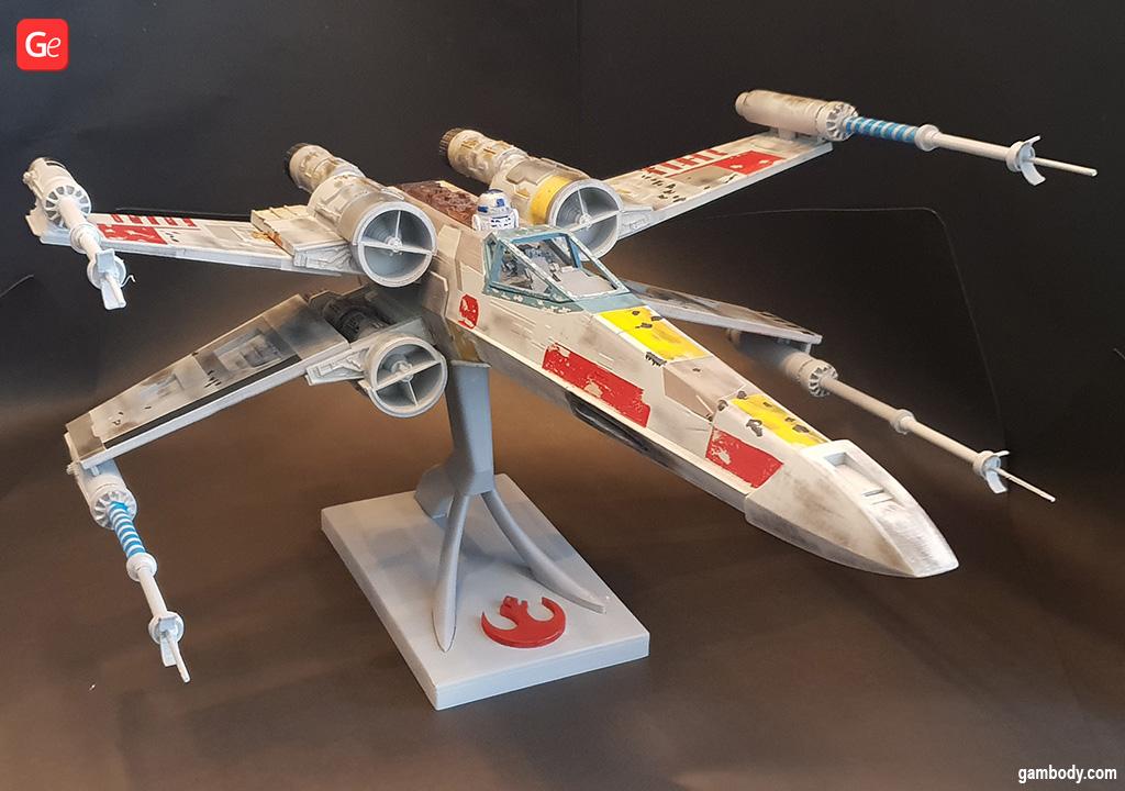 X-Wing Starfighter 3D printed Star Wars starship models