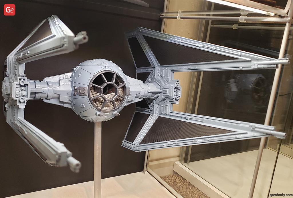TIE Interceptor 3D print Star Wars ship replicas