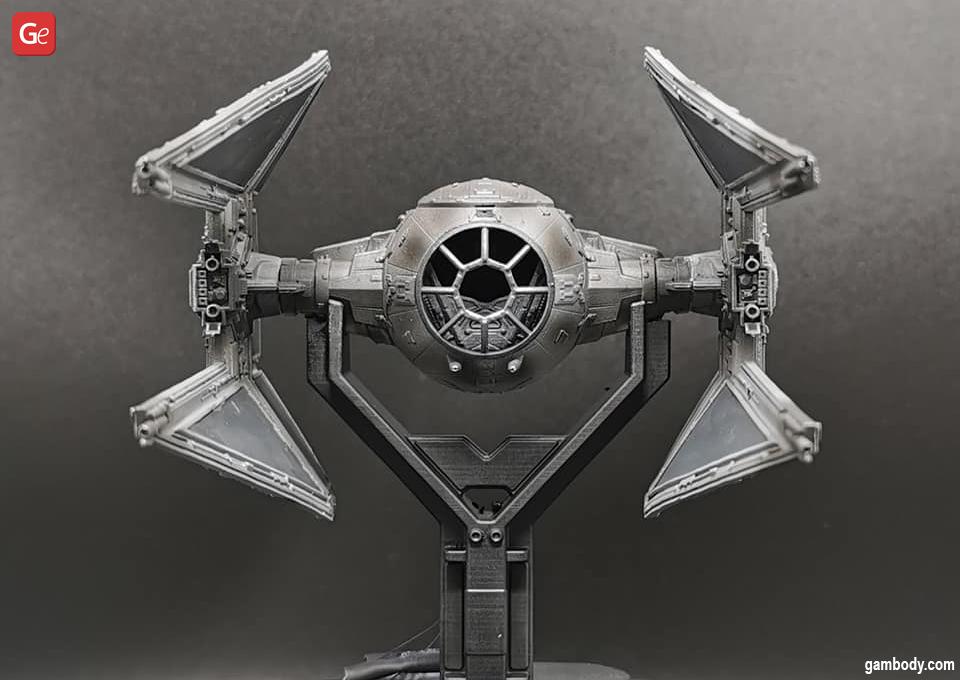 TIE Interceptor model 3D printed