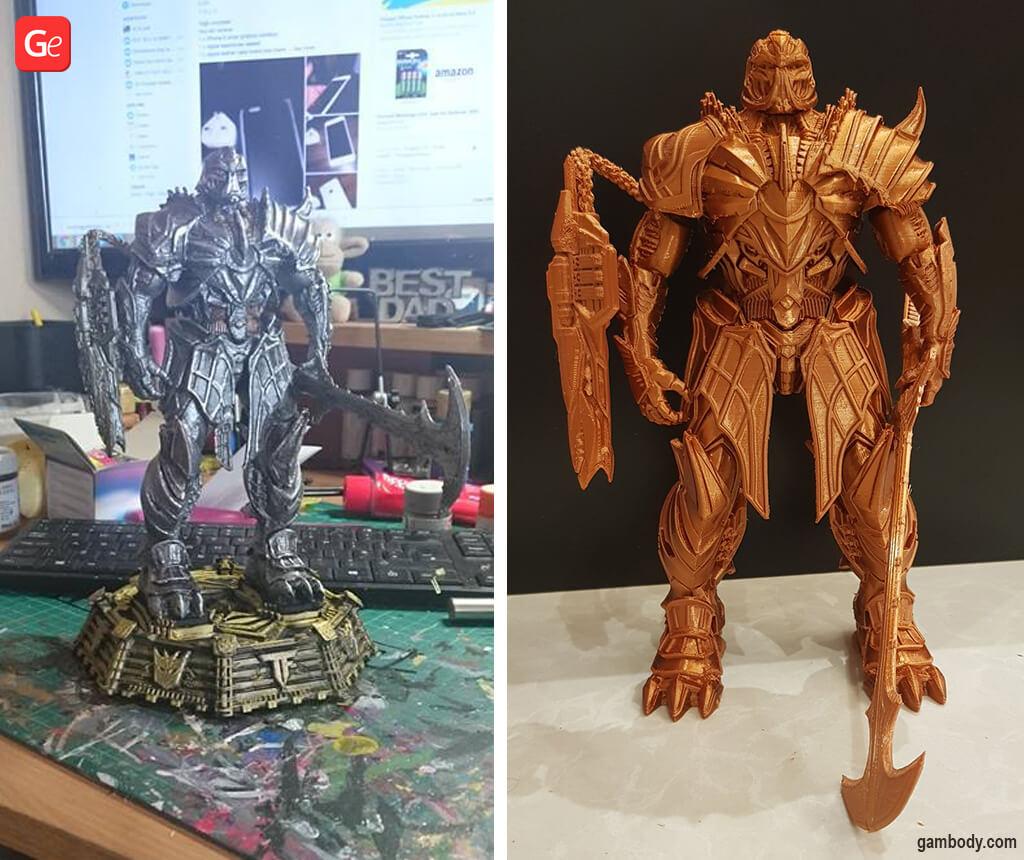 Megatron statue 3D print best Transformers models