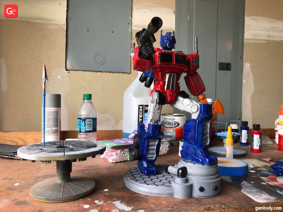 3D printed Transformer robot Optimus Prime G1 model