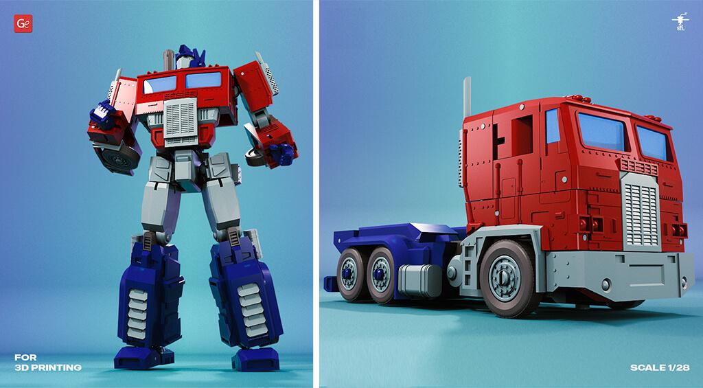 3D printed Transformers Optimus Prime model