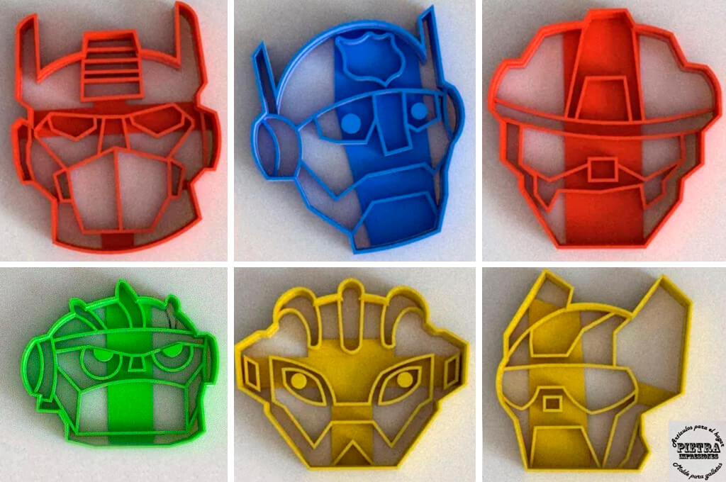 Transformers cookie cutters to 3D print
