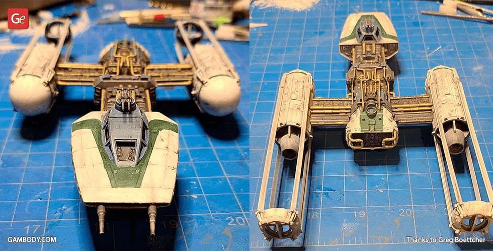 Y-Wing Starfighter 3D printed Star Wars model