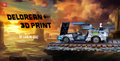 DeLorean Model 1/8 3D Print from Back to the Future by Carlos Diaz