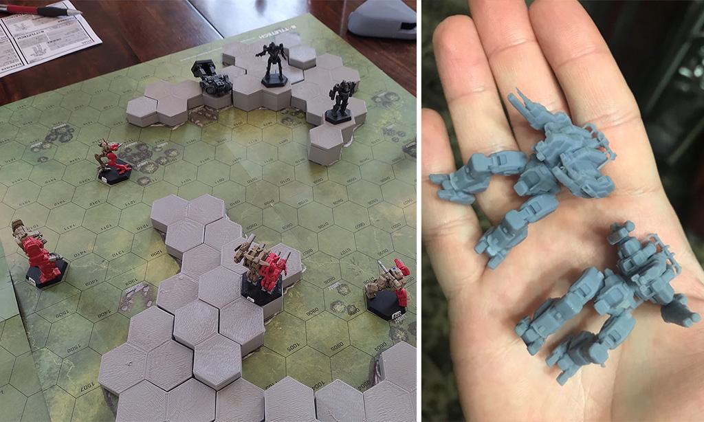3D printed BattleTech miniatures