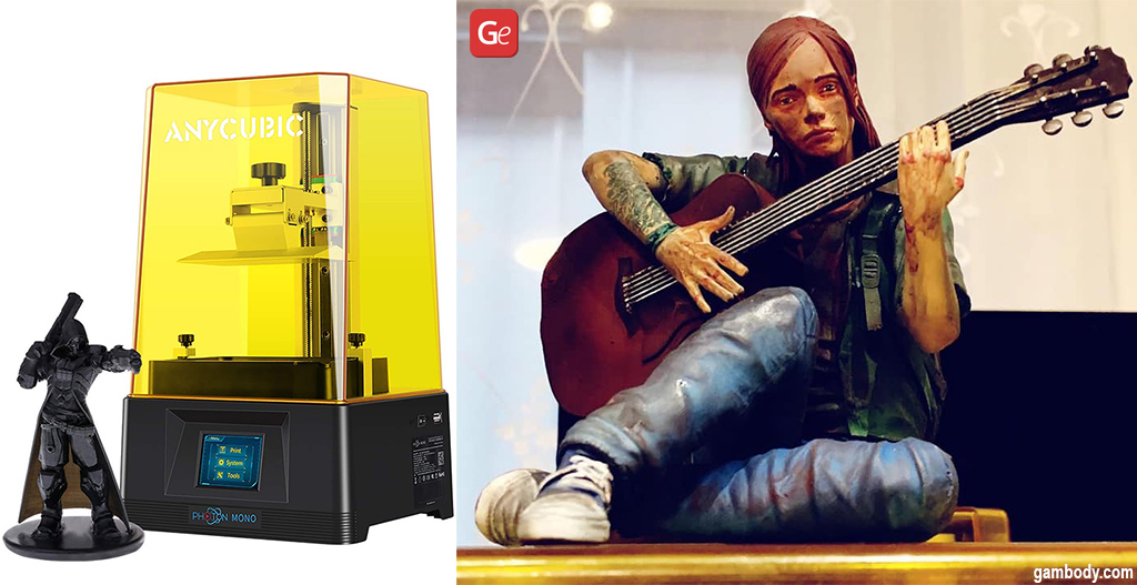Affordable 3D printer Anycubic Photon Mono with Ellie from Last of Us