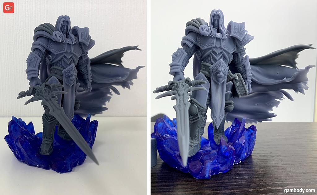 WoW Arthas figurine made on Creality Halot-One
