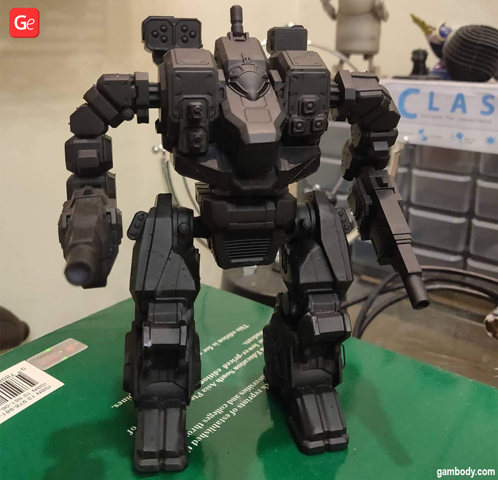 3D print BattleTech Hellbringer in large scale