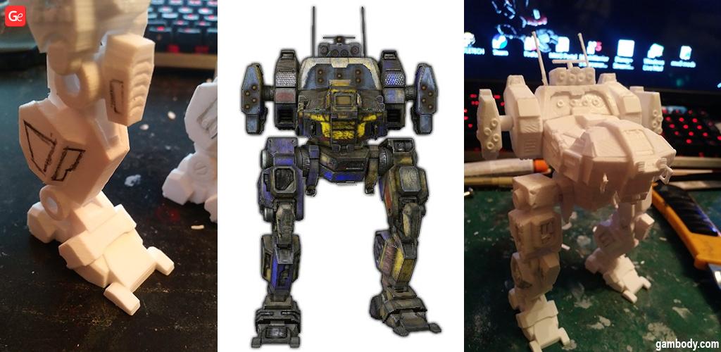 BattleTech 3D printed model Jenner Oxide