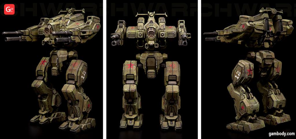 3D printed BattleTech Rifleman model