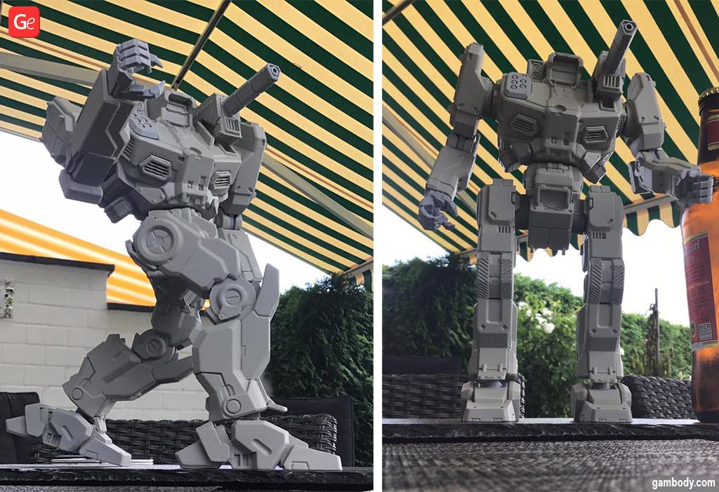 3D print BattleTech models Shadow Hawk