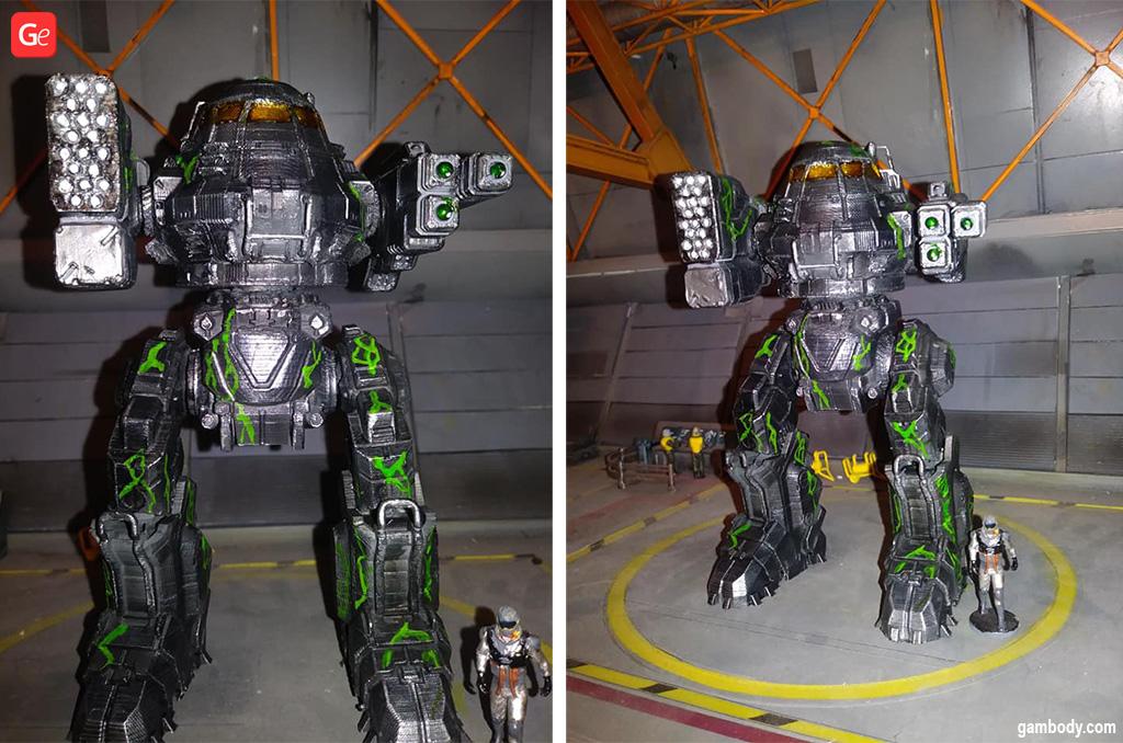 Large-scale BattleTech UrbanMech model