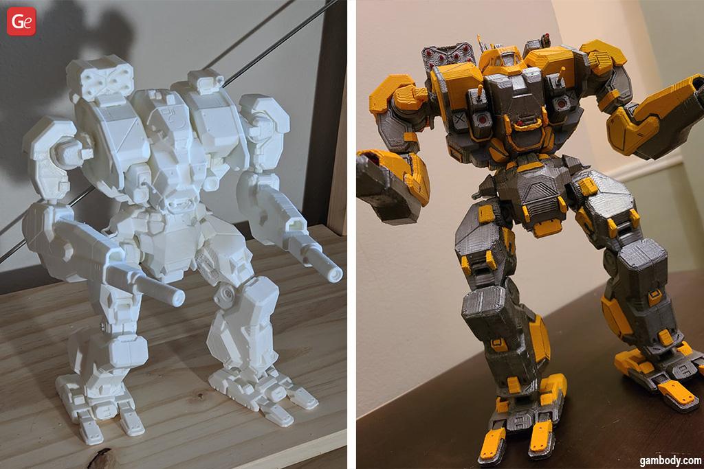 BattleTech 3D printer files MWO War Hammer