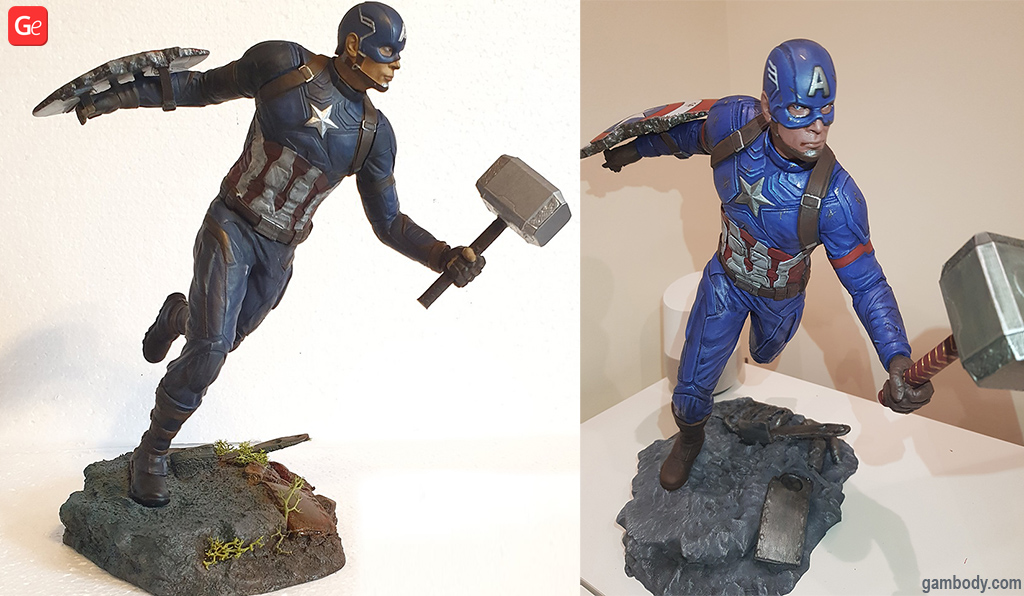 Captain American 3D printed Marvel items