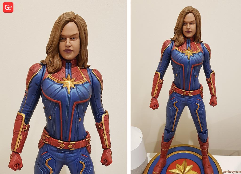 Captain Marvel 3D printed figure MCU
