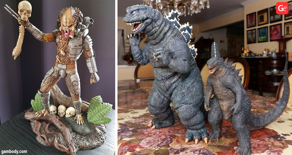 Predator and Godzilla made on cheap Creality CR-10 Mini