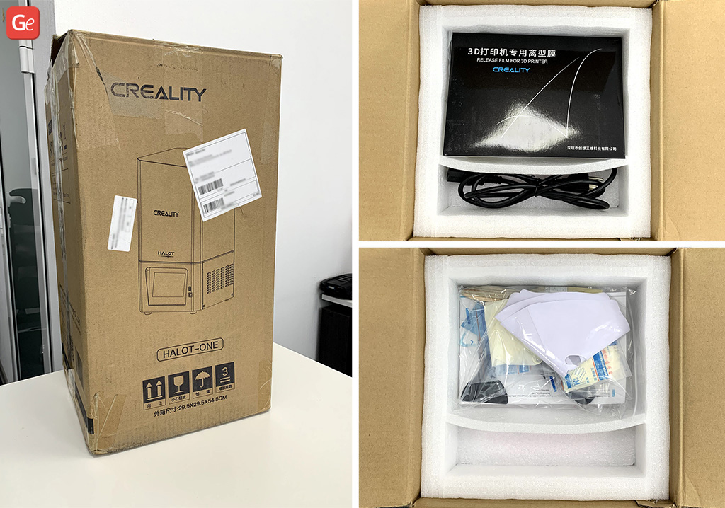 Creality Halot-One resin 3D printer unboxing