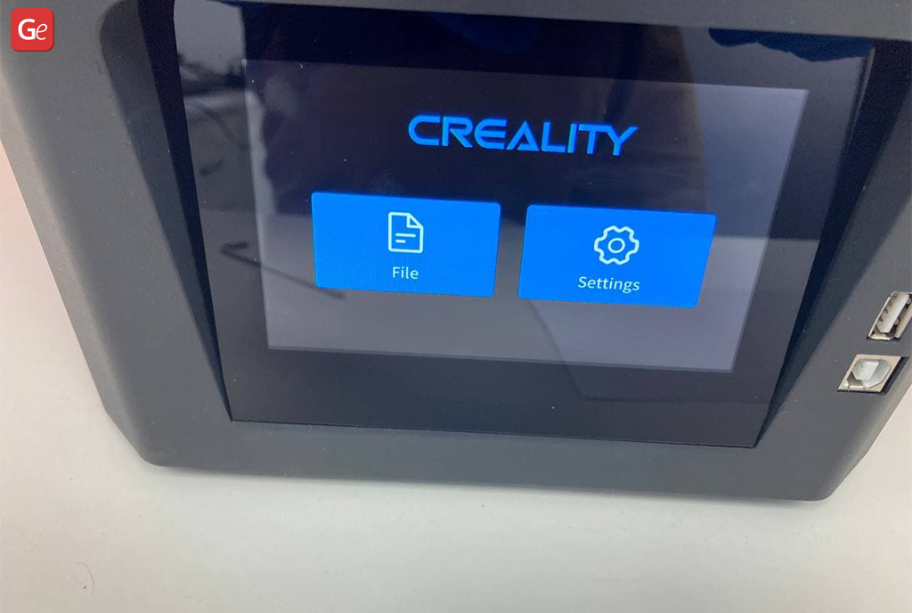 File and Settings Halot-One resin 3D printer