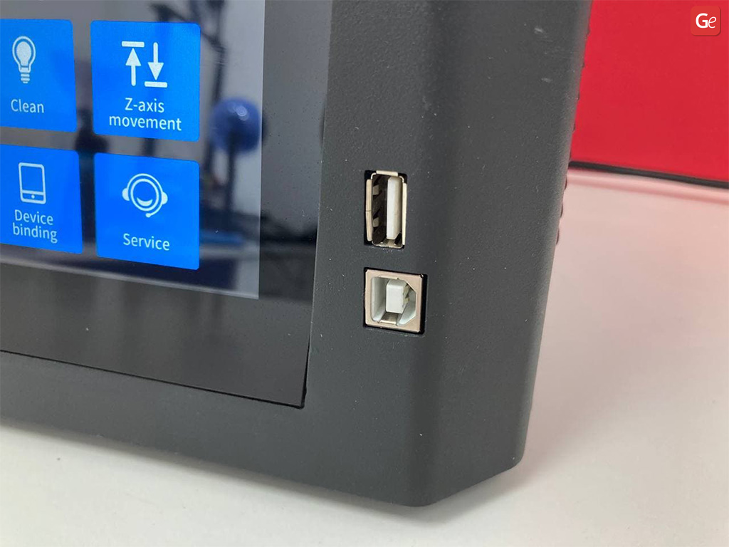 USB and computer ports in Halot-One 3D printer