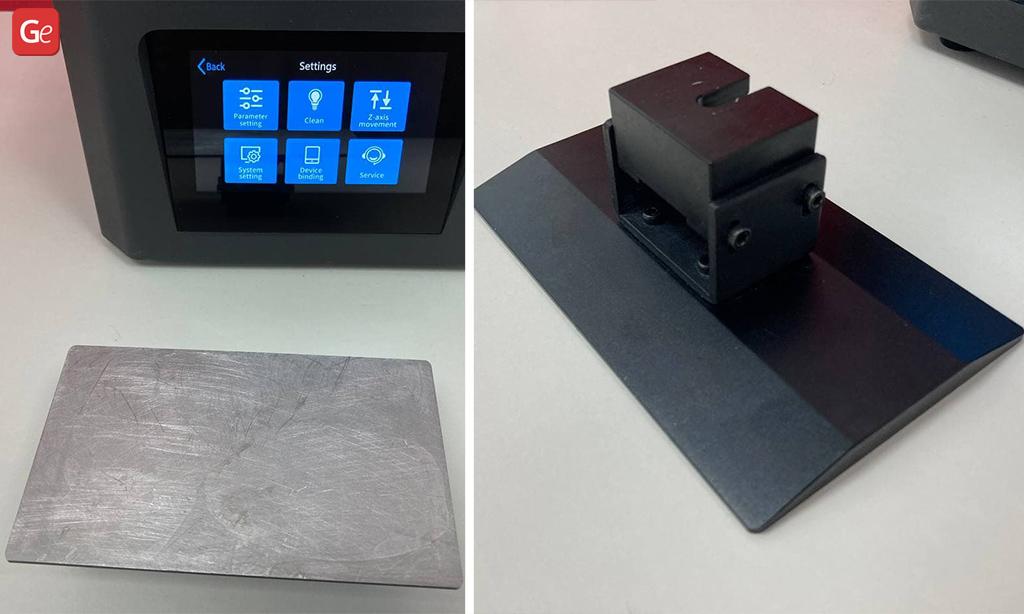 Build platform Creality Halot-One resin 3D printer