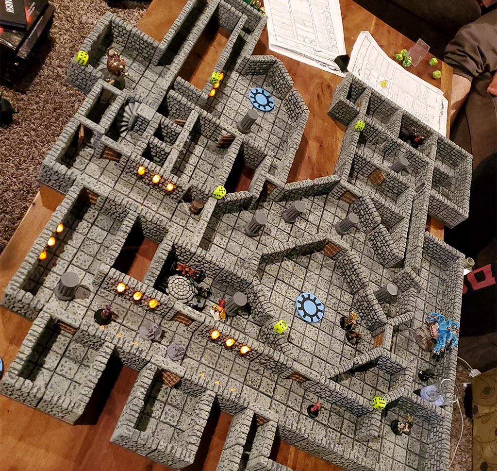 3D printed Dungeons and Dragons terrain