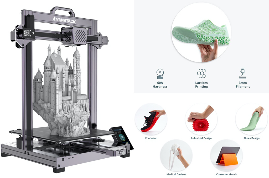 Best rubber 3D printer Atomstack Cambrian