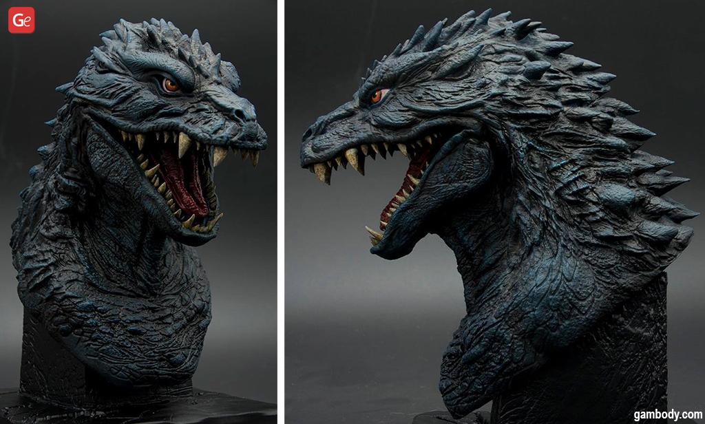 Godzilla bust what to 3D print