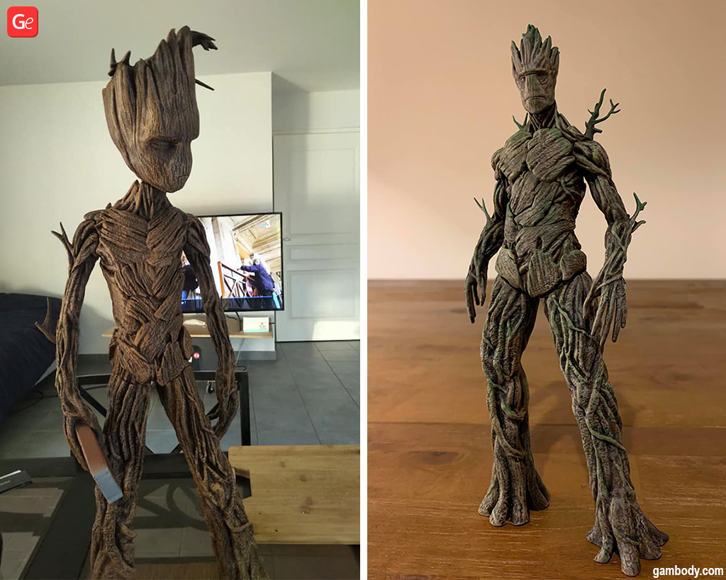 Adult Groot 3D prints