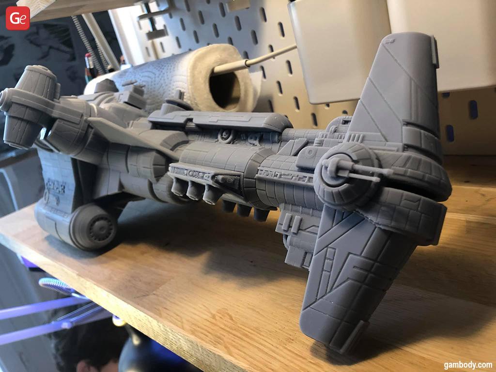 Hammerhead Corvette Star Wars ship 3D printed