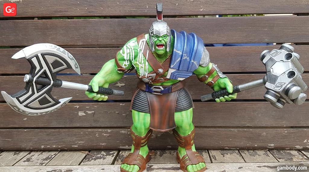 Armoured Hulk Marvel 3D printed figure
